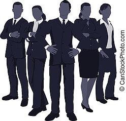 динамический, молодой, бизнес, команда