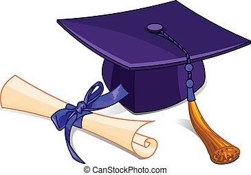 диплом, кепка, градация
