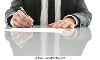 документ, signing, адвокат