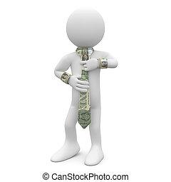 доллар, галстук, должностное лицо