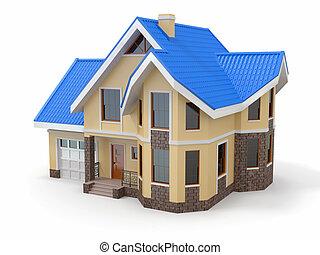 дом, белый, задний план
