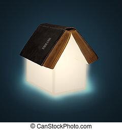дом, библия, открытый