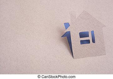дом, бумага