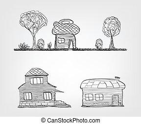 дом, задавать, 4, icons