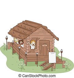 дом, лагерь