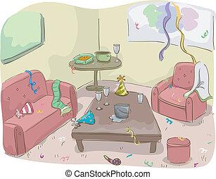 дом, после, вечеринка
