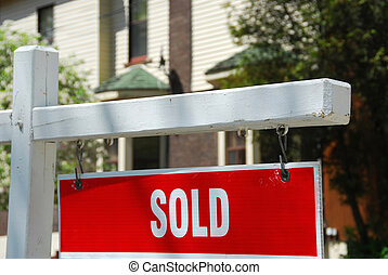 дом, продан, знак