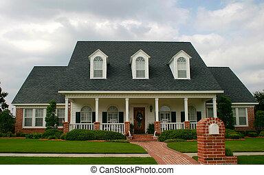 дом, стиль, классический, новый