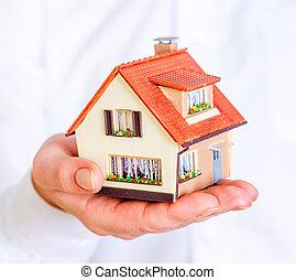 дом, человек, руки