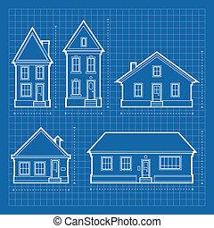 дом, blueprints