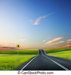 дорога, горизонт