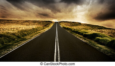 дорога, длинный
