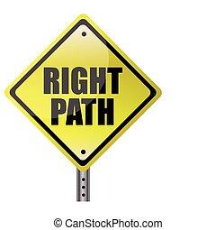 дорожка, правильно, улица, знак
