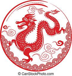 дракон, новый, китайский, год