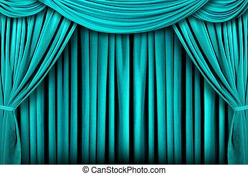 драпировка, чирок, theatre, абстрактные, задний план, сцена
