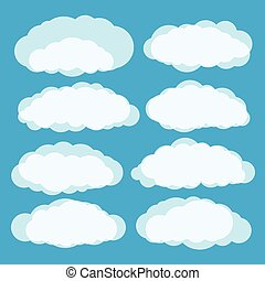 другой, вектор, clouds, задавать