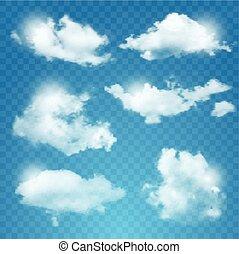 другой, задавать, прозрачный, clouds.