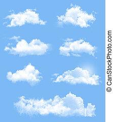 другой, задавать, прозрачный, vector., clouds.
