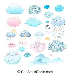 другой, задавать, clouds