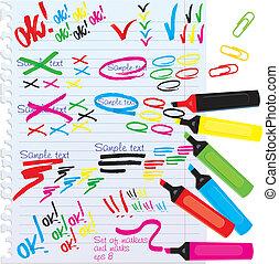 другой, markers, colors, задавать