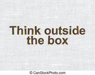 думать, за пределами, текстура, ткань, concept:, коробка, образование
