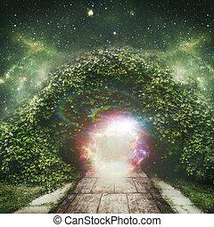 духовный, вселенная, абстрактные, backgrounds, портал, другой