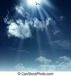 духовный, heaven., абстрактные, backgrounds, дизайн, путь, ваш