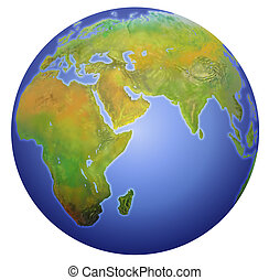 европа, показ, азия, земля, africa.