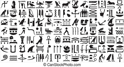 египтянин, иероглифы, 1, древний, задавать