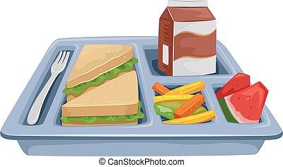 еда, диета, лоток, обед