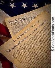 единый, конституция, состояния, флаг, задний план, декларация, независимость