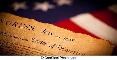 единый, состояния, флаг, задний план, декларация, независимость