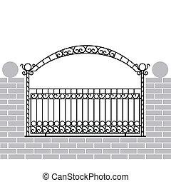железо, забор, лук