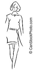 женщина, иллюстрация