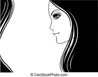 женщина, красота