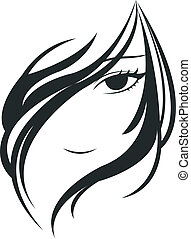 женщина, лицо