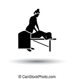 женщина, массаж, значок