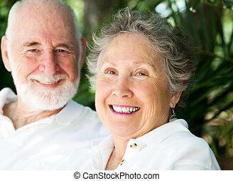 женщина, счастливый, муж, старшая
