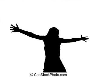 женщина, crucified