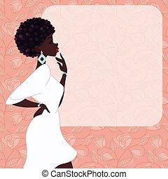 женщина, dark-skinned, розовый