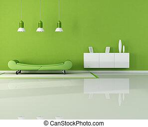 живой, зеленый, комната