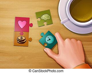 жизнь, головоломка, pieces