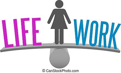 жизнь, женщина, решение, работа, выбор, баланс