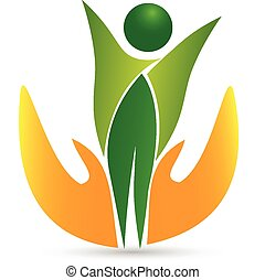 жизнь, здоровье, логотип, значок, вектор, забота