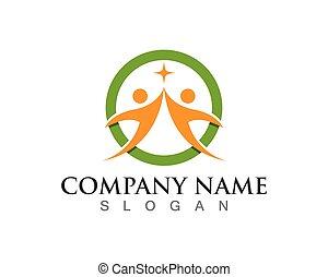 жизнь, успех, icons, здоровье, шаблон, логотип
