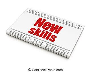 заголовок, навыки, learning, газета, новый, concept: