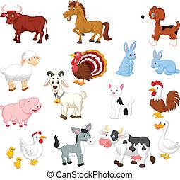 задавать, животное, коллекция, ферма