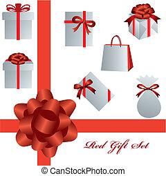 задавать, красный, подарок