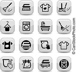 задавать, мойка, уборка, icons