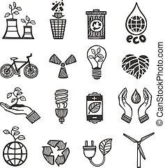 задавать, отходы, экология, icons